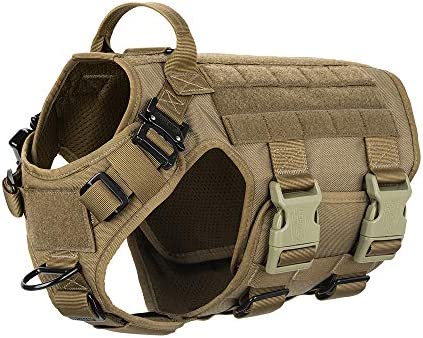 ICEFANG Tactical Dog Harness Hook and Loop Panels for Patch Working Dog MOLLE Vest with Handle product image