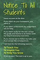 Notice To All Students, motivational classroom poster