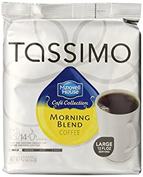 Tassimo Maxwell House Cafe Collection Mild Morning Blend Coffee