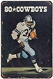 Froy 1980 Dallas Cowboys Wand Blechschild Retro Eisen