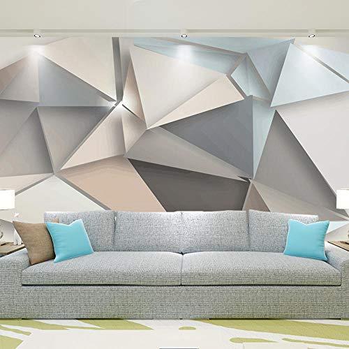 Papel de pared fotográfico personalizado 3D Fondo de TV moderno Sala de estar Dormitorio Arte abstracto Mural Papel tapiz geométrico para revestimiento de paredes