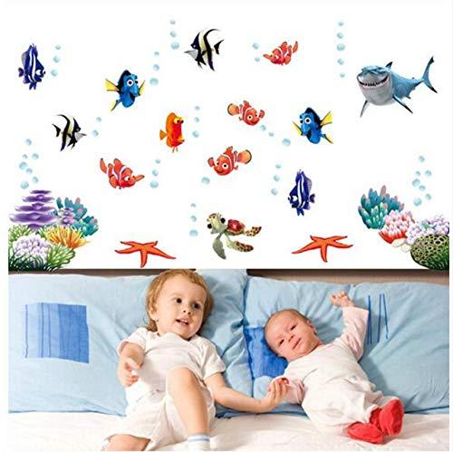 Cczxfcc Nemo Vis Cartoon Muursticker voor Douche Tegel Stickers in De Badkamer voor Kinderen Baby Op Bad