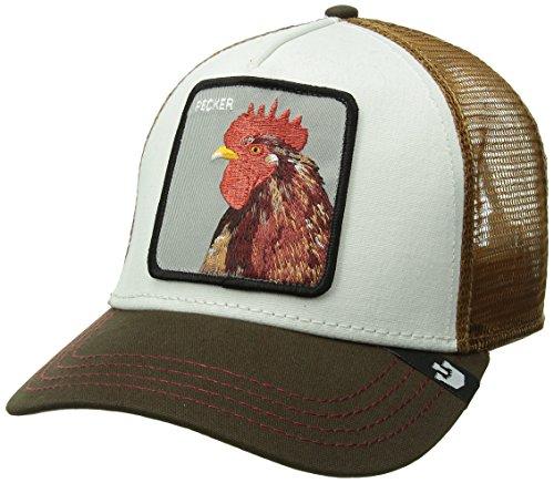 Gorra trucker amarilla blanca gallo Peck Peck Goorin
