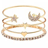 Shining Diva Fashion Jewellery Crystal Multilayer Charm Bracelet for Girls and Women (9816b)