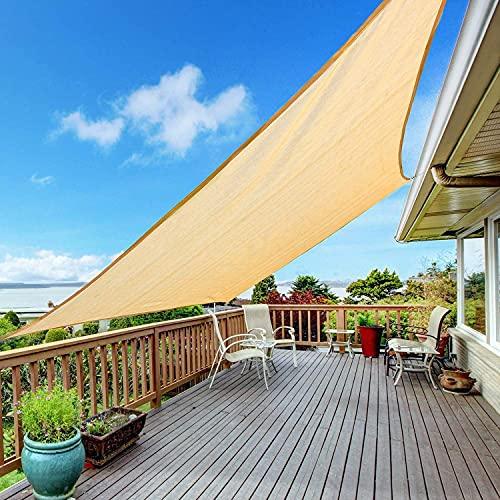 Kupton Sun Sonnensegel wasserdurchlässig, 95% UV-Block Sonne Schatten Segel Luftdurchlässig, Perfekt für Außenterrassen Hinterhof Hof Parkplatz Schwimmbad Gärten, Größe 6.56 'x 10' (2x3 Meter)