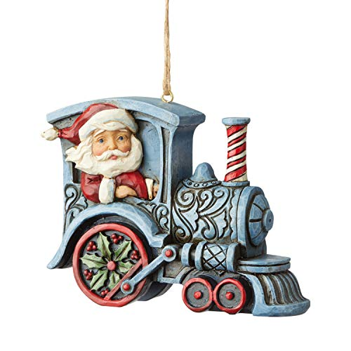 Jim Shore Heartwood Creek Sospensione Babbo Natale sulla Locomotiva, 8 cm