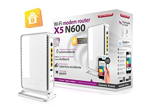 SITECOM Router Modem WI-FI DUALB. N600 X5+USB & SIT.Cloud