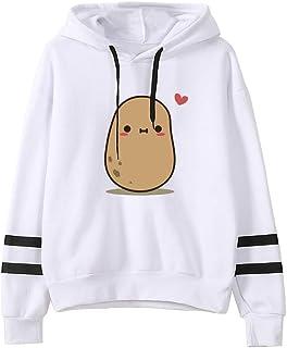 Hemlock Teen Girls Hoodies Printed Cute Hooded Sweatshirt Junior Sports Blouse Long Sleeve Hooded Pullovers Summer Tops