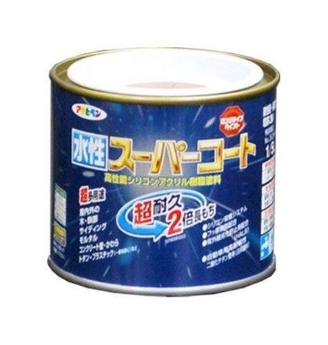 アサヒペン ペンキ 水性スーパーコート 水性多用途 シトラスイエロー 1/5L