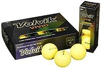 Volvik(ボルビック) ゴルフボール Vivid (ビビッド) 並行輸入品 3ピース 1ダース マットイエロー