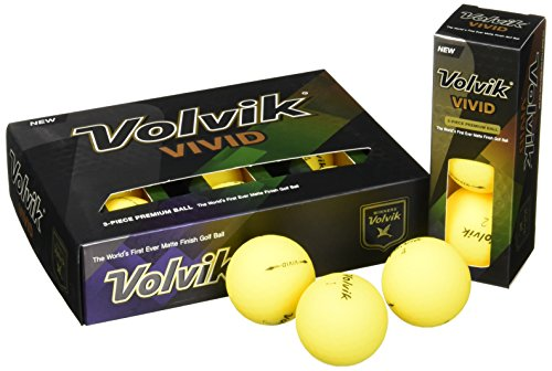 Volvik Vivid Golfbälle, Unisex, VV0000200, gelb, One Dozen