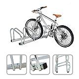 Todeco - Râtelier Familial pour Vélo, Support de Rangement Vélo - Dimensions: 132 x 32 x 26 cm - Type d'installation: Support mural - Peut contenir 5 vélos