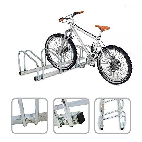 Todeco - Râtelier Familial pour Vélo, Support de Rangement Vélo - Dimensions: 132 x 32 x 26 cm - Type d installation: Support mural - Peut contenir 5 vélos