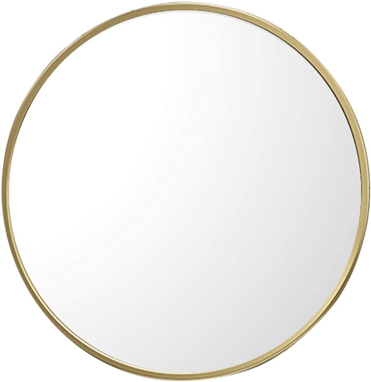 Hub Wall Mirror Round Wall Mirror for Entryways, Bathroom Washrooms Living Rooms and Bedroom Decorative Shaving Large Vanity Dressing (gold)