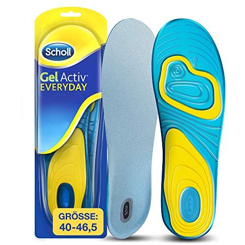 Scholl GelActiv Einlegesohlen Everyday für Freizeitschuhe von 40-46,5 – Verbesserter Komfort durch doppelte Polsterung – 1 Paar Gelsohlen