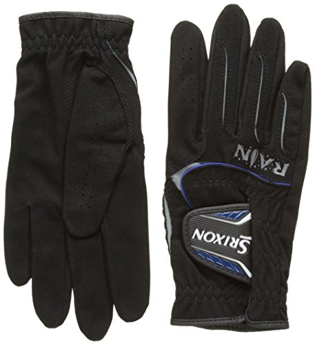 2014 Srixon Rain Mens Playing Golf Gloves For Cold and Wet Weather - PAIR Black Small