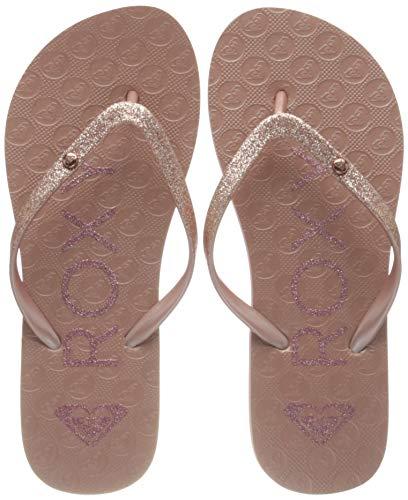 Roxy Rg Viva Glitter sandal for Girls Flip-Flop, Rose Gold, 35 EU