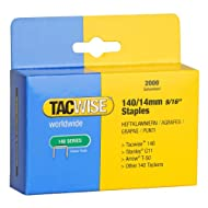 """Heavy duty """"flat wire"""" 140 staples for staple gun For use with any Tacwise Z3-140, Z3-140L hand tackers and the Tacwise Pro140EL electric tacker Equivalent to the Arrow T50 and Stanley G11 staples Compatible with Stanley, Arrow and Rapid hand tackers..."""