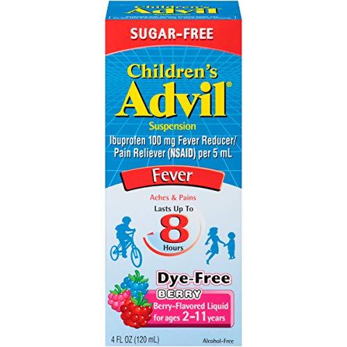 Advil Children's Suspension Sugar Free, Dye Free, Berry 4 oz (Pack of 2)