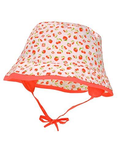 maximo Baby-Mädchen Hut Ohrenklappen Bindeband Mütze, Mehrfarbig (Weiss-Tomate-Früchte 12), 49