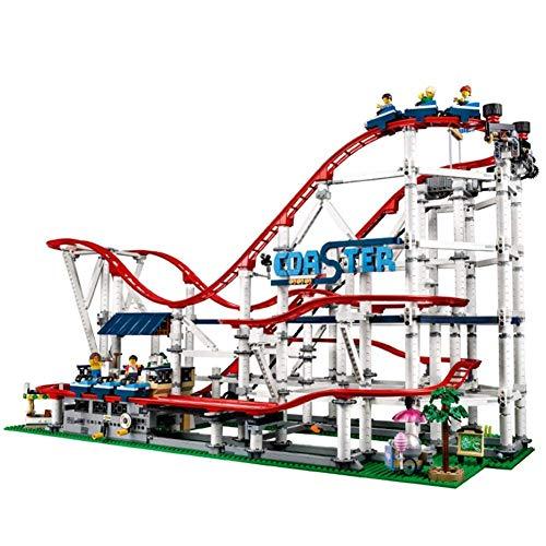 Hsatos Modellbausteinset, Spielzeug Bauen, Achterbahn Zusammengebaut Bausteinspielzeug, Geeignet Für Kinder über 6 Jahre, Erwachsene