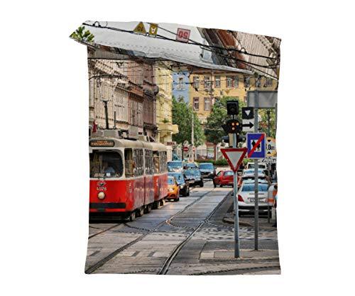 fotobar!style Bettbezug 135 x 200 cm Straßenbahn
