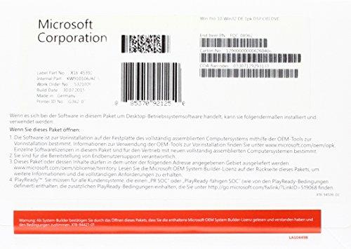 MS Windows 10 Pro 32bit DVD OEM (DE)