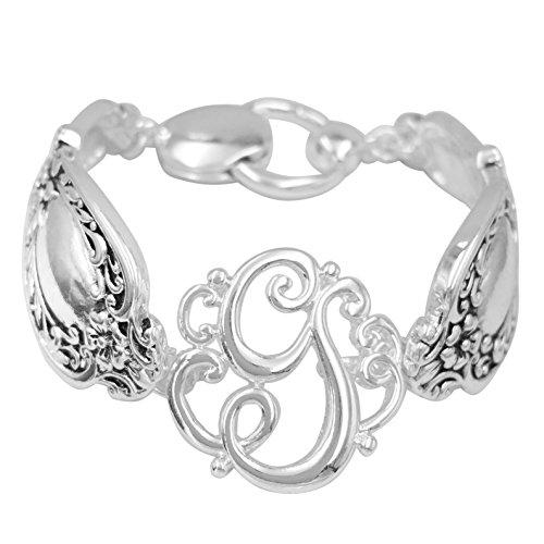 silver spoon handle earrings - 7