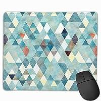 """ティールの三角形の抽象的な水彩画 マウスパッド ゲーミング オフィス高級感 おしゃれ 防水 耐久性が良い 滑り止めゴム底 ゲーミングなど適用 マウスの精密度を上がる9.8""""x 11.8"""""""