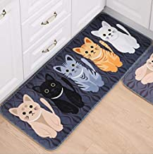 ZXLIADLY 40 * 60cm Bedroom Bedside Carpet Cat Claws Creative Pattern Entrance Mat Kitchen Rug Non-Slip Pad Bring You Every...
