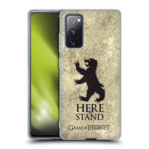 Head Case Designs Licenciado Oficialmente HBO Game of Thrones Mormont Sigils Afligido Oscuro Carcasa de Gel de Silicona Compatible con Samsung Galaxy S20 FE / 5G