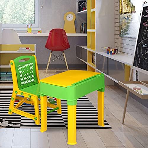 Nilkamal Apple Junior Plastic Study Table Set Yellow/Green