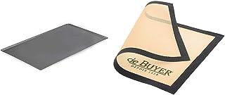 DE BUYER -8161.40 -plaque patissiere choc alu. 40x30cm & 4938.40 Tapis Airmat Siliconé Aéré 40 x 30 cm