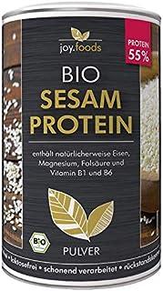 joy.foods Bio Sesamprotein, rein pflanzliche Proteinquelle, 55% Eiweiß, 500 g