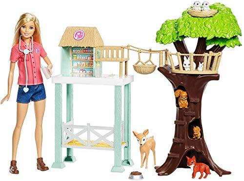 Barbie- Centro Soccorso Animali Set di Figurine, Multicolore, FCP78