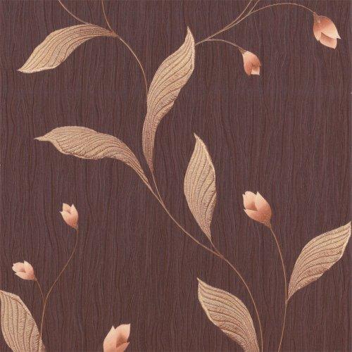 Belgravia Decor: Tiffany Platinum papel pintado Plum/Vino/dorado