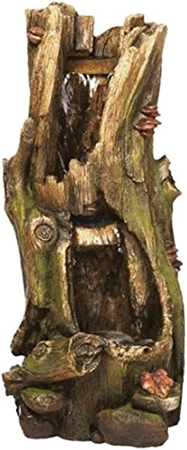 2 Fall Tree Trunk Lit Water Feature for Garden and Patio Ideal Gift