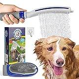 WUTASU Haustier Dusche Hundeduschen Sprühaufsatz für Badewerkzeug, Hunde Massagehandschuh und Hundeduschkopf mit Pet Bürste Flusskontrolle für Heim Außenreinigungsbad