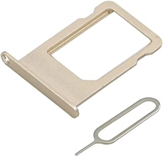 MMOBIEL Bandeja de Tarjeta SIM Ranura Compatible con iPhone 5S / SE 4.0 Pulg. (Oro), Incl. sim Pin