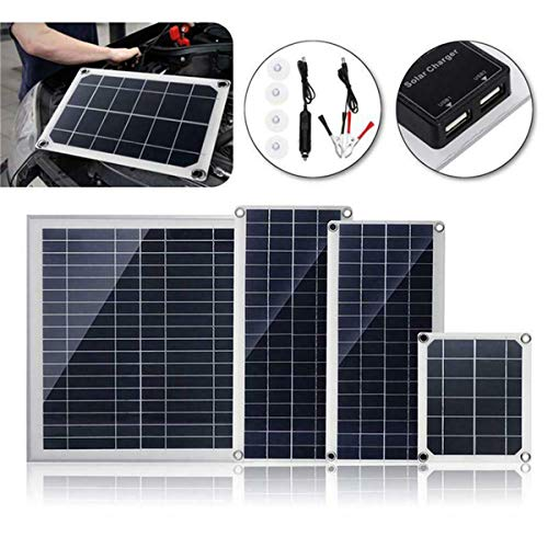 BouBou Panel Solar Policristalino Flexible De 10W / 15W / 20W / 30W 18V DC con Conexión USB - 30w