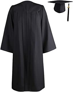 Tinyones Matte Graduation Gown Cap Set with 2020 Tassel for Adults High School