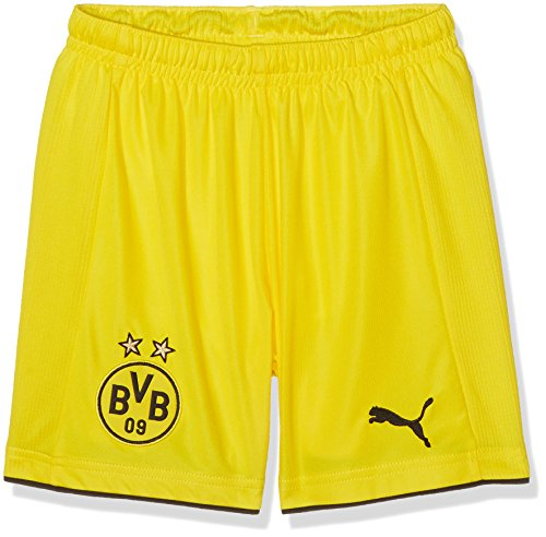 PUMA Kinder Hose BVB Replica Shorts, Gelb-Cyber Yellow/Black, EU: 158
