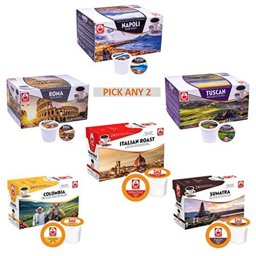 Tiziano Bonini 48 Keurig Compatible Pods, K-Cup. Pick Any 2 Packs. Choose...