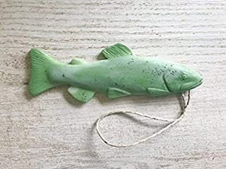 Trout Soap on a Rope, Made in the USA, Fishing Gifts, Funny Gifts for Him, Gifts for Dad, Green Eucalyptus Peppermint Soap, Stocking Stuffers for Men, Soap on a Rope, Handmade Soap Funny Novelty Gift