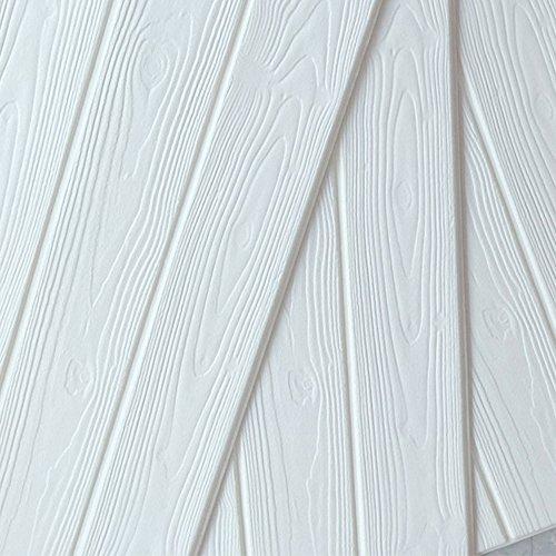 5 pezzi 77 * 70cm 3D Carta da Parati Mattoni Autoadesiva Wallpaper Brick Adesivi Murali Muro (wood)