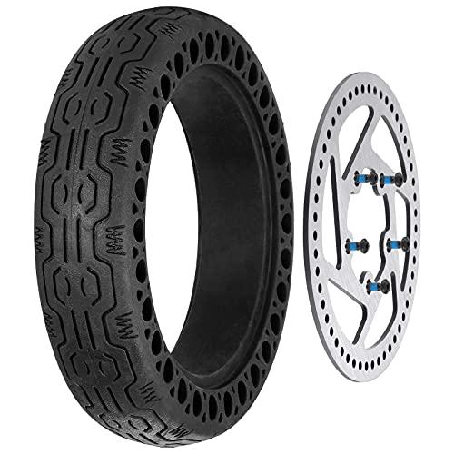 XXLYY y Neumático sólido de 8,5 Pulgadas Rueda de Repuesto sin pinchazos Rueda Delantera/Trasera y Disco de Freno de Scooter de 110 mm Compatible con el Scooter eléctrico M365
