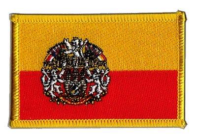 Flaggen Aufnäher Tschechische Republik Prag Fahne Patch + gratis Aufkleber, Flaggenfritze®