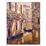 Paisaje de la ciudad de Venecia clásica Pinturas en lienzo Impresión digital Carteles e impresiones de paisajes Imágenes de decoración del hogar para sala de estar 30x45cm Sin marco