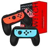 ORZLY Grip Compatibile con i Joy-con del Nintendo Switch per Un Comfort Extra (Confezione Doppia) - 2 Impugnature Universali Nere per i Joy-con del Nintendo Switch