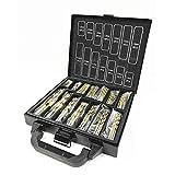 L-Yune, 99pcs / Set HSS Fresa Espiral bits Puestos 1.5-10mm Herramienta Titanio Recubierto de Superficie 118 Grados for el Perforado de Metales